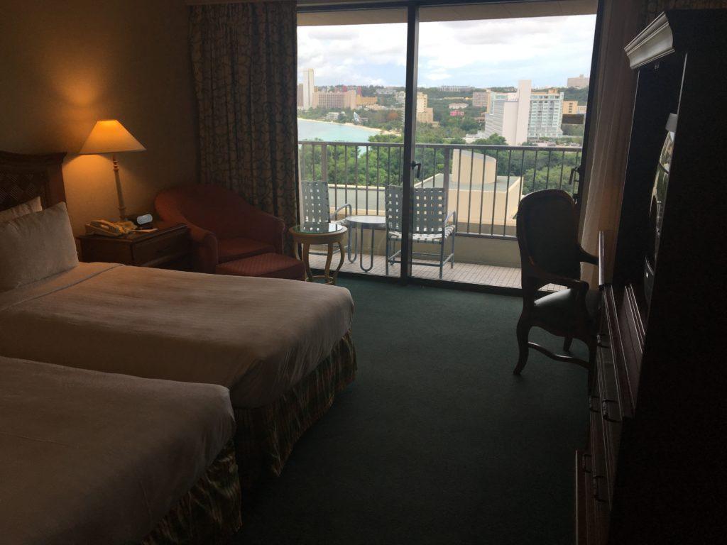 パシフィックスター リゾート アンド スパの私たちが泊まったオーシャンビュールームを撮影した写真