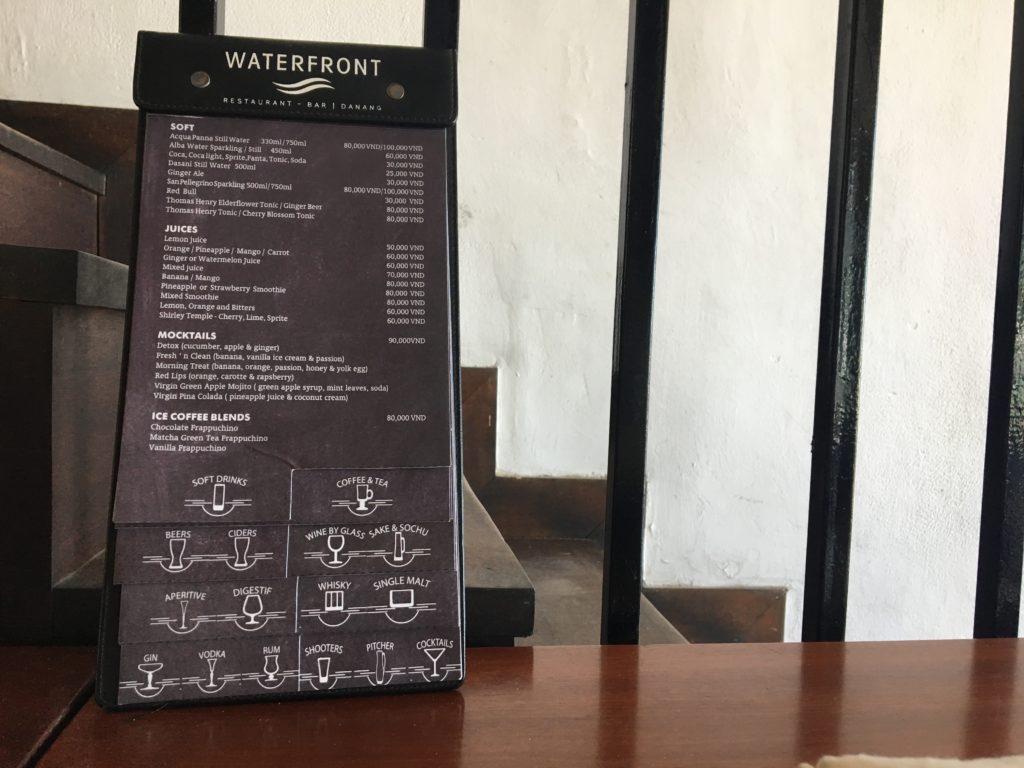 ウォーターフロントレストラン&バーのメニュー