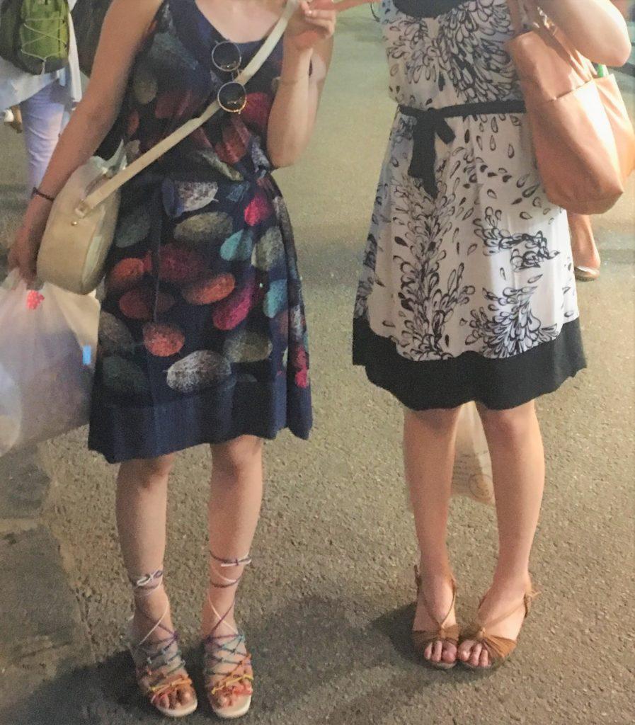 ホイアンで購入してすぐ着たキャミワンピースコーディネートを撮影した写真