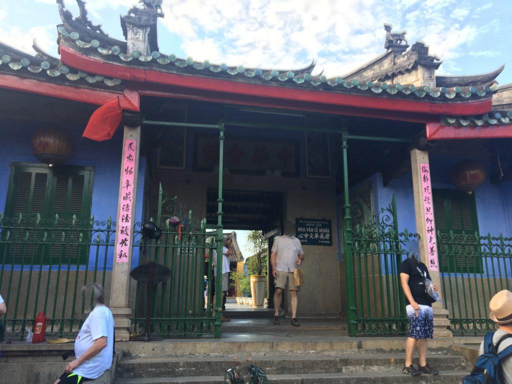 チャンフ―通りで見かけた中華会館を撮影した写真