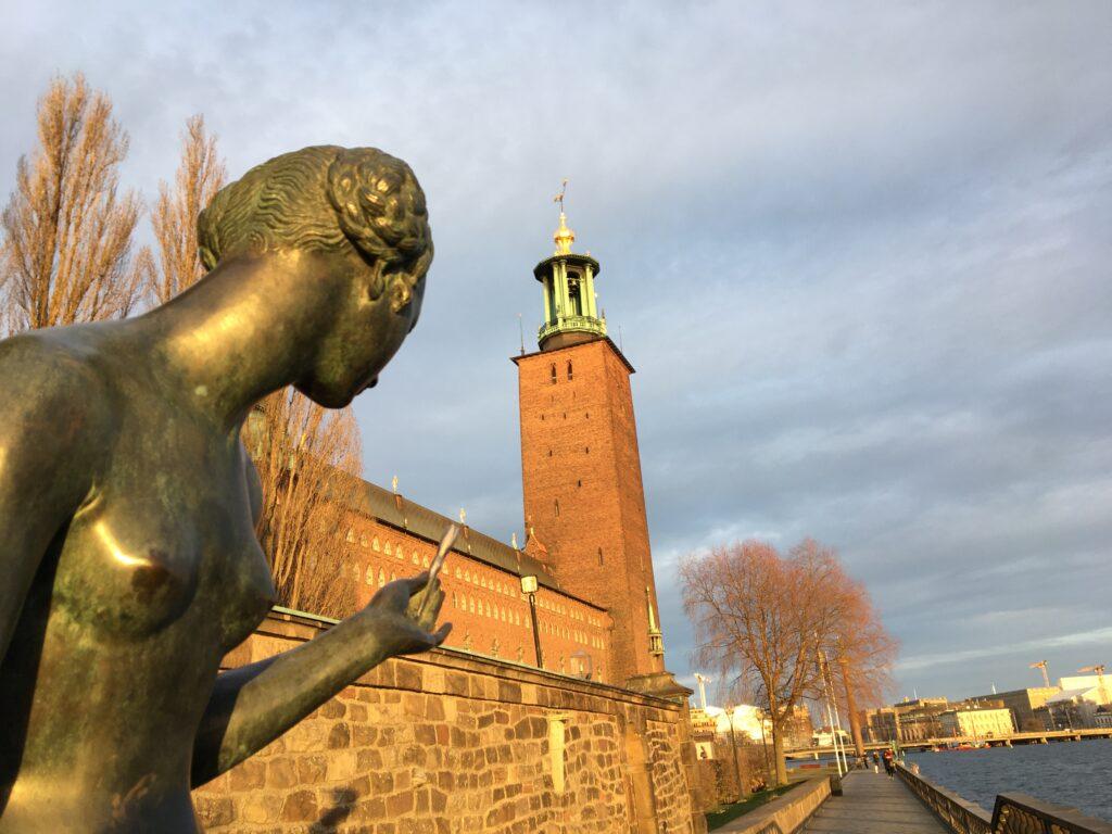 私が観光したストックホルム市庁舎を撮影した写真